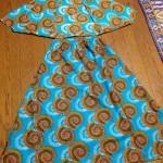 アフリカンプリントの台形スカート